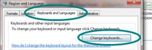 Change Keyboards screenshot