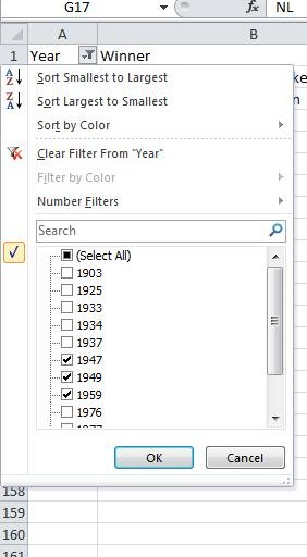 Checkbox for Excel Autofilter